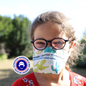 Teximasque 30 lavages Enfant - Masque Grand Public Filtration supérieure à 90%