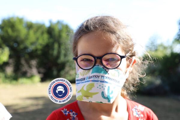 Teximasque 30 washes Child- Mask for general public filtration >90%