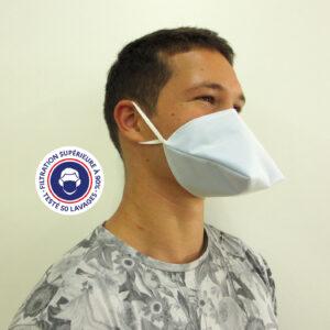 Teximasque 50 lavages - Masque Grand Public Filtration supérieure à 90%